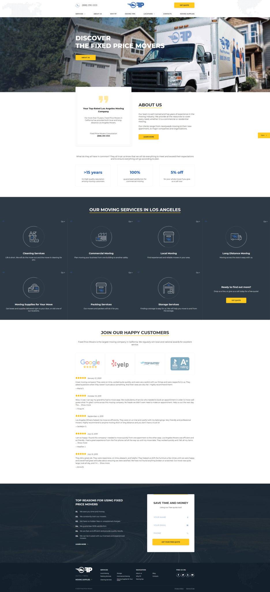 Movers Website